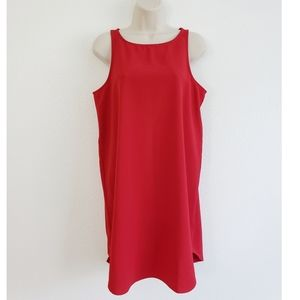 Cupcakes and Cashmere Red Shift Dress Sleeveless